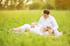 Happy couple - pregnant woman and her husband Royalty Free Stock Photo