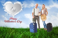 Happy couple ready to go on holiday Royalty Free Stock Photos