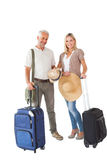 Happy couple ready to go on holiday Stock Photos
