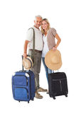 Happy couple ready to go on holiday Stock Photography