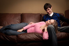 Happy couple relaxing Royalty Free Stock Photography