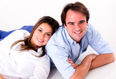 Happy couple relaxing Royalty Free Stock Photos