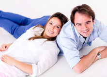 Happy couple relaxing Stock Photos
