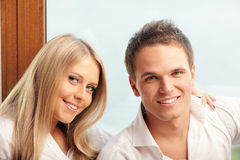 Happy couple relaxing at home Royalty Free Stock Images