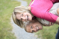 Happy couple relaxing in park Royalty Free Stock Photo