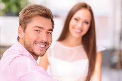 Happy couple relaxing together Royalty Free Stock Photo