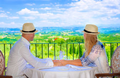 Happy couple on resort Stock Image