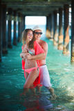 Happy couple at the resort Royalty Free Stock Photography
