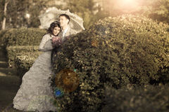 The happy couple`s wedding day Royalty Free Stock Image