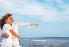 Happy couple on sea Stock Photo