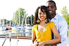Happy couple at seaside Royalty Free Stock Images