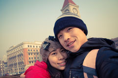 Happy couple selfie Stock Image