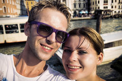 Happy couple selfie Royalty Free Stock Images