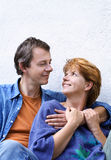 Happy couple series Stock Image
