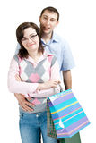 Happy couple shopping Royalty Free Stock Images
