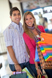 Happy couple shopping Royalty Free Stock Image