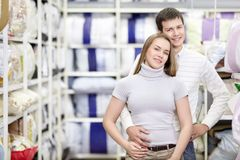 Happy couple shopping Royalty Free Stock Photo