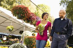 Happy couple shopping. Stock Image