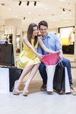 Happy couple during shopping Royalty Free Stock Photos