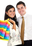Happy couple shopping Stock Photo