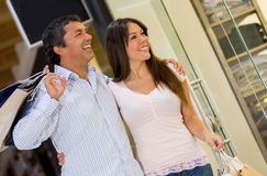 Couple at the shopping center Stock Photography