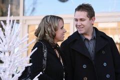 Happy Couple Shopping, Christmas  Stock Photos