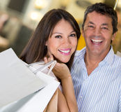 Happy couple shopping Royalty Free Stock Photography