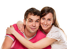 Happy couple with smile Royalty Free Stock Photography
