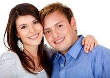 Happy couple smiling Stock Images