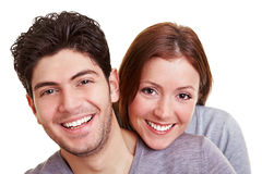 Happy couple smiling Royalty Free Stock Photography