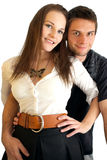 A happy couple smiling Royalty Free Stock Photo