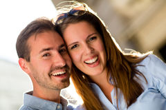 Happy couple smiling Stock Image