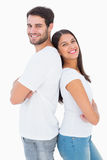 Happy couple smiling at camera Royalty Free Stock Images