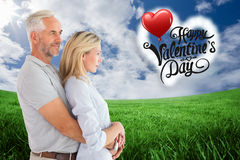 Happy couple smiling and embracing Royalty Free Stock Photo