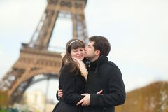 Happy couple spending their holidays in France Royalty Free Stock Photos