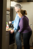 Happy Couple Spending Time Cooking - Vertical Stock Image