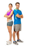 Happy Couple In Sports Wear Royalty Free Stock Photography