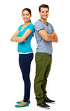 Happy Couple Standing Arms Crossed Royalty Free Stock Image