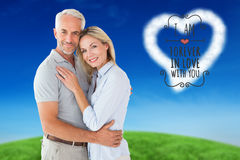 Happy couple standing and smiling at camera Royalty Free Stock Photos
