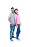 Happy couple standing together and looking at camera Stock Image
