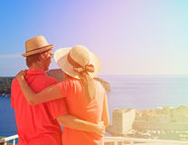 Happy couple on summer vacation in Dubrovnik Royalty Free Stock Image