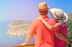 Happy couple on summer vacation in Europe Stock Photos