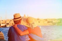 Happy couple on summer vacation Malta Royalty Free Stock Photos