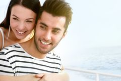 Happy couple at summertime Stock Photography