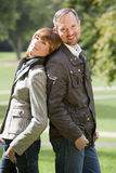 Happy couple in the sun royalty free stock images