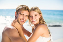 Happy couple in swimsuit Stock Photography