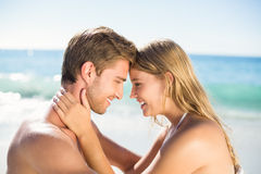 Happy couple in swimsuit Royalty Free Stock Photos