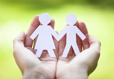 Happy couple symbol Royalty Free Stock Photo