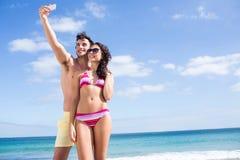 Happy couple taking selfie Stock Photography
