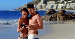 Happy couple taking selfie stock video footage